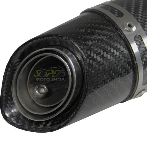 Escape / Ponteira Jeskap GP Carbon em Alumínio Preto Street Triple 675 - Triumph