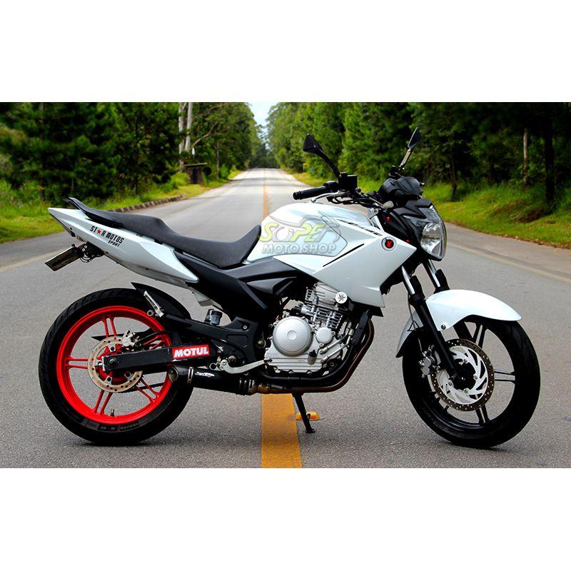 Escape / Ponteira Jeskap GP Carbon em Alumínio (Abaixo do Pedal) - Fazer 250 2011 em Diante - Yamaha