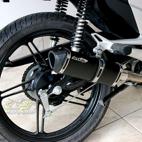 Escape / Ponteira Jeskap K2 Black Alumínio - CG 150 Titan / Fan 2014 em Diante - Honda