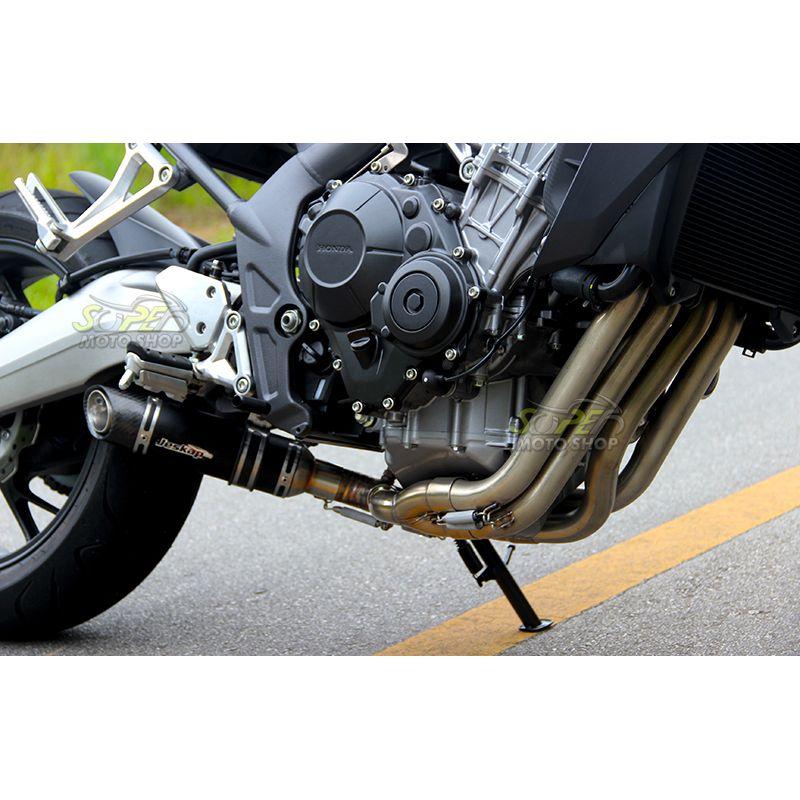 Escape / Ponteira Jeskap Mini GP Carbon Alumínio FULL 4X2X1 - CB / CBR 650 F - Honda
