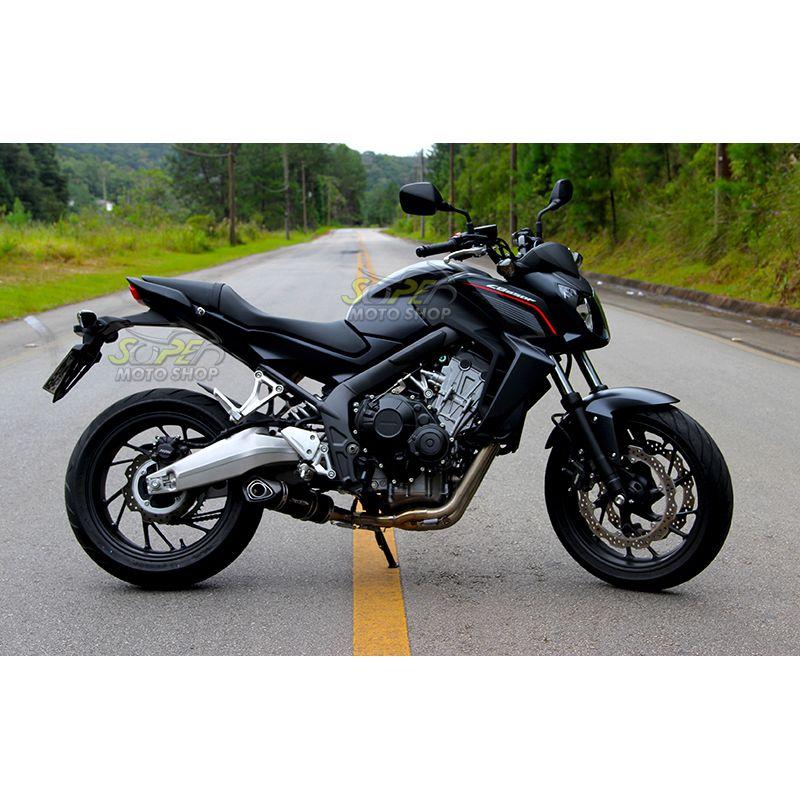 Escape / Ponteira Jeskap Three Carbon em Fibra FULL 4X2X1 - CB / CBR 650 F - Honda