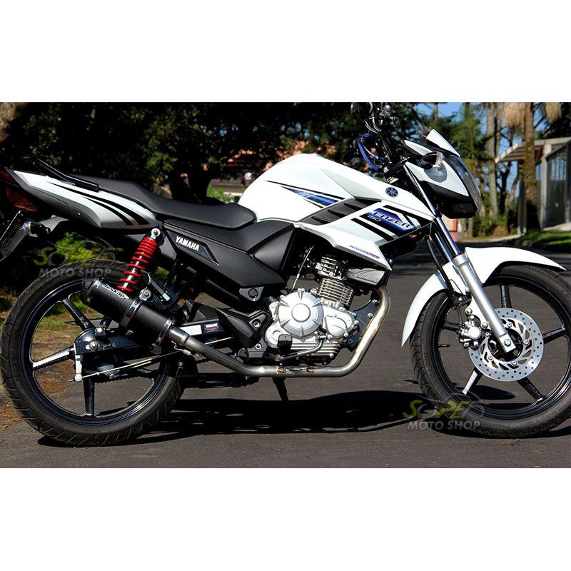 Escape / Ponteira Jeskap Modelo K2 Black em Alumínio Preto - Fazer 150 SED - Yamaha