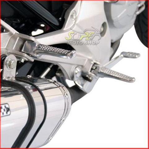 Pedaleiras Dianteiras e Traseiras (4 unidades) Racing em Alumínio Polido CBX Twister 250 - Honda