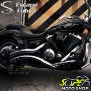 Escapamento Modelo Cobra JJ 2.1/2´ Sport - Midnight Star 950 - Yamaha