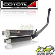 Escape / Ponteira Coyote Competition Alumínio Duplo CB 300 R - Preto - Honda