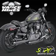 Escapamento Vance & Hines Mod. Twin Slash Preto ( Ponteira ) - XL 1200 / XL 883 ano 04/13 - Harley D