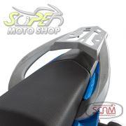 Bagageiro de Liga Leve Prata ou Preto - Fazer 150 / Factor 150 - Yamaha