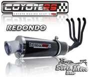 Escape / Ponteira Coyote RS4 Fibra de Carbono 4x1 Redondo GSX 1100 W - Super Moto Shop