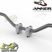 Combo Guidão Anker em Alumínio + Adaptador Ø22 - Universal