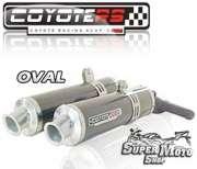 Escape / Ponteira Coyote RS4 Fibra de Carbono oval (par) - V-Max 1200 - Super Moto Shop