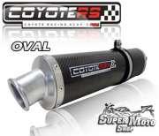 Escape / Ponteira Coyote RS4 Fibra de Carbono Oval -  STX 200 / Motard - Super Moto Shop
