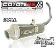 Escape / Ponteira Coyote RS4 Fibra de Carbono Oval -  Titan KS Ano 1996 até 1999 - Super Moto Shop
