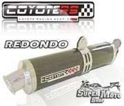 Escape / Ponteira Coyote RS4 Fibra de Carbono Redondo (par) - CBX 750 Ano 1987 até 1994 - Super Moto Shop