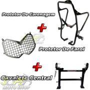 Kit Protetor de Carenagem + Cavalete Central + Protetor de Farol Modelo Chapam - Tenere 250 Todos os