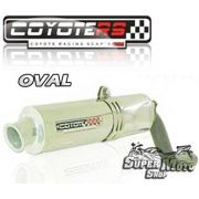 Escape / Ponteira Coyote RS3 Alumínio Oval Tirumph T 509/595/955 - Super Moto Shop