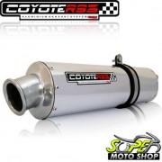 Escape / Ponteira Coyote RS3 Alumínio Oval CBX Strada 200 1998 até 2002 - Polido - Honda - Super Moto Shop