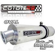 Escape / Ponteira Coyote RS3 Aluminio Polido Oval - RF 600Ano 1996 em diante / 900 - Super Moto Shop