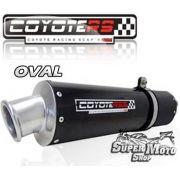 Escape / Ponteira Coyote RS3 Aluminio Preto Oval - XR 250 Tornado Até ano 2006 - Super Moto Shop
