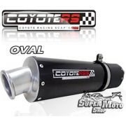 Escape / Ponteira Coyote RS3 Aluminio Preto Oval - XTZ 250 Lander - Super Moto Shop