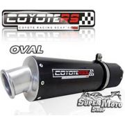 Escape / Ponteira Coyote RS3 Aluminio Preto Oval - ZX 9R Até ano 1997 - Super Moto Shop