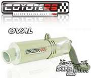 Escape / Ponteira Coyote RS2 Aço inox Oval (estilo racing)  - Tirumph Daytona T 509/595/955 - Super Moto Shop