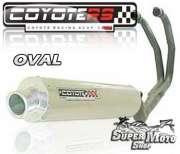 Escape / Ponteira Coyote RS2 Aço inox Redondo (2x1) - GS 500 - Super Moto Shop