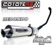 Escape / Ponteira Coyote RS2 Aço inox Redondo - YBR 125 - Super Moto Shop