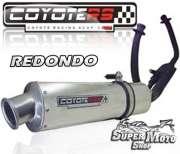 Escape / Ponteira Coyote RS2 Aço inox Redondo - Comet 250 / GTR - Super Moto Shop