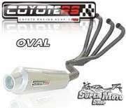 Escape / Ponteira Coyote RS2 Aço inox Oval (4x1) - CBX 750 Ano 1987 até 1994 - Super Moto Shop