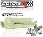 Escape / Ponteira Coyote RS2 Aço inox Redondo -  XT 600 Ano 1997 em diante - Super Moto Shop