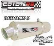 Escape / Ponteira Coyote RS2 Aço inox Redondo - CBX 200 Strada Ano 1998 em diante - Super Moto Shop