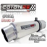 Escape / Ponteira Coyote RS5 Aço Inox Oval boca em 8  - Bandit N/S 1200 Ano 2007 em diante - Super Moto Shop