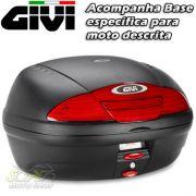 Kit Bauleto / Baú Traseiro Top Case GIVI E450 Simply II 45 Litros + Base Roncar - Tenere 660 - Yamah
