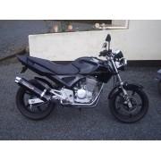 Escape / Ponteira Coyote RS5 Boca 8 Aluminio Oval - Twister 250 - Preto - Honda - Super Moto Shop