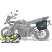 Kit Baú / Bauleto Lateral Side Case GIVI Modelo E-21 (Par) + Suporte Scam - F 800 GS - BMW - Super Moto Shop