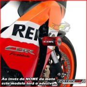 Slider Dianteiro Coyote (PAR) CBR 1000 RR 2006 até 2007 - Honda - Prata & Preto c/ Anel Polido - Super Moto Shop