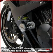 Slider Dianteiro Coyote (PAR) CBR 600 RR 2008 até 2009 - Honda - Prata & Preto c/ Anel Polido - Super Moto Shop