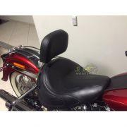Encosto para Piloto Modelo WingsCustom Inox - HD Softail Deluxe - Harley Davidson - Super Moto Shop