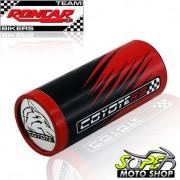 Slider Dianteiro Coyote (PAR) CG 150 Titan 2005 até 2008 - Honda - Vermelho & Preto c/ Anel Vermelho - Super Moto Shop