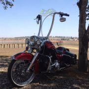 Guidão WingsCustom Modelo Ape Hanger Robust Brutale Inox - Softail Fat Boy - Harley Davidson - Super Moto Shop