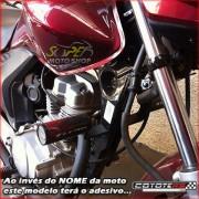 Slider Dianteiro Coyote (PAR) CG 150 Titan 2005 até 2008 - Honda - Azul & Preto c/ Anel Azul - Super Moto Shop