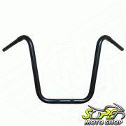 Guidão WingsCustom Modelo Ape Hanger Robust Preto - HD Sportster / Dyna - Harley Davidson - Super Moto Shop