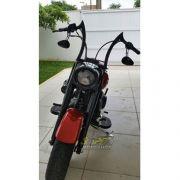 Guidão WingsCustom Modelo Diablo Robust Preto - HD Dyna Super Glide / Fat Bob / Street Bob - Harley Davidson - Super Moto Shop