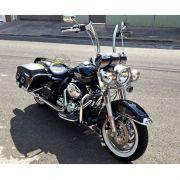Guidão WingsCustom Modelo King Robust Preto - HD Softail Blackline - Harley Davidson - Super Moto Shop