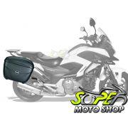 Kit Baú / Bauleto Lateral Side Case GIVI Modelo E-21 (Par) + Suporte Scam - NC 700/750 X até 2015 - Honda - Super Moto Shop