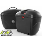 Kit Baú / Bauleto Lateral Side Case GIVI Modelo E-21 (Par) + Top Case Givi E450 + Suportes Scam - V-Strom 1000 até 2013 - Suzuki - Super Moto Shop