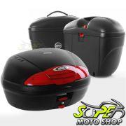 Kit Baú / Bauleto Lateral Side Case GIVI Modelo E-21 (Par) + Top Case Givi E450 + Suportes Scam - Tiger 800 - Triumph - Super Moto Shop