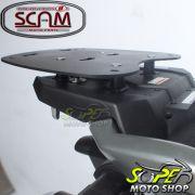 Kit Baú / Bauleto Lateral Side Case GIVI Modelo E-21 (Par) + Top Case Givi E450 + Suportes Scam - Tenere 250 ano 2016 em Diante - Yamaha - Super Moto Shop