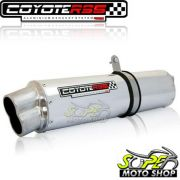 Escape / Ponteira Coyote RS5 Boca 8 Aluminio Oval - XRE 190 - Polido - Honda - Super Moto Shop