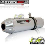 Escape / Ponteira Coyote SS1 Aluminio Oval - XRE 190 - Polido - Honda - Super Moto Shop
